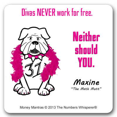 Maxine the Math Mutt #MoneyMantras